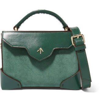 Atelier MANU Bold Micro Leather And Suede Shoulder Bag - Emerald