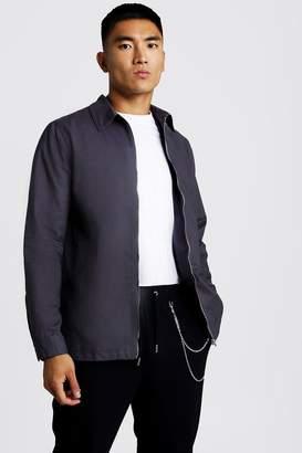 boohoo Cotton Zip Through Overshirt