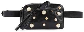 Redv RedV Black Leather Belt Bag