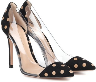 b9bc7ac3b1 Gianvito Rossi Exclusive to Mytheresa Plexi polka-dot suede pumps