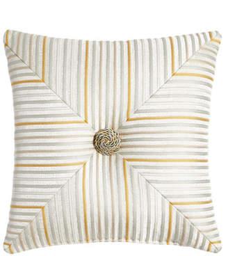 """Austin Horn Classics Mitered Stripe Blossom Pillow, 18""""Sq."""