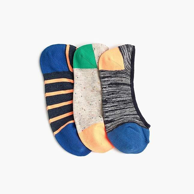 Boys' no-show socks three-pack