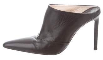 Altuzarra Leather Pointed-Toe Mules