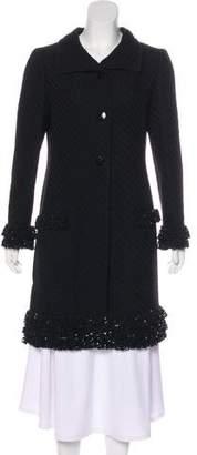 Valentino Embellished Wool Coat