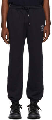 Burberry Navy Embroidered Logo Lounge Pants