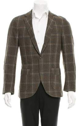 Michael Bastian Windowpane Three-Button Blazer