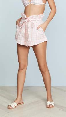 For Love & Lemons Lotti Gingham Shorts