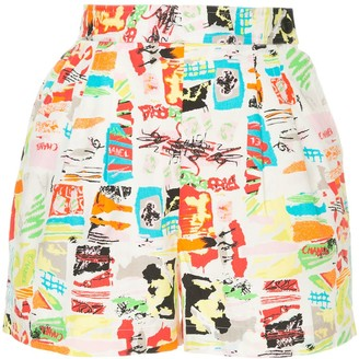 Chanel Pre-Owned CC printed shorts