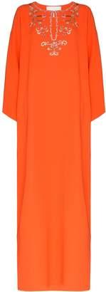 Carolina Herrera kaftan silk maxi dress