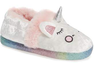 Tucker + Tate TTTwinkle-Fab Faux Fur Unicorn Slipper