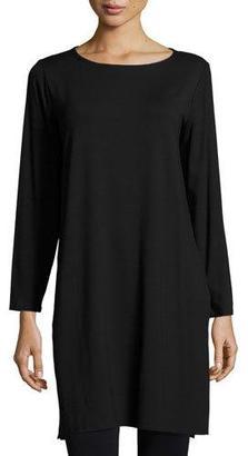 Eileen Fisher Lightweight Jersey Tunic $178 thestylecure.com