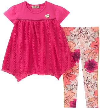 Juicy Couture Embroidered Top and Floral Leggings Set
