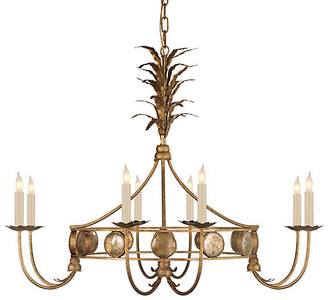 "Visual Comfort & Co. 36"" Gramercy Chandelier - Gilded Iron"