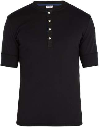 Schiesser Short-sleeved cotton-jersey pyjama top