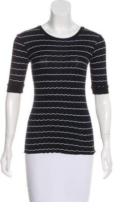 Enza Costa Striped Knit Top