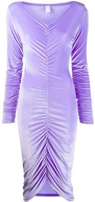 Fantabody draped velvet dress