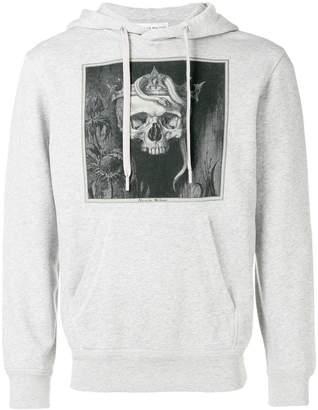 Alexander McQueen printed king skull hoodie