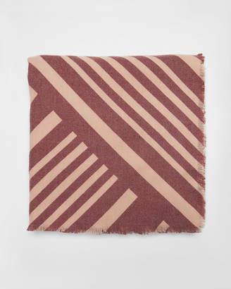 Express Diagonal Stripe Square Scarf