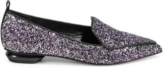 Nicholas Kirkwood Glitter Point Toe Loafers