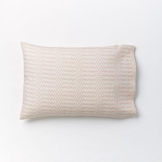 west elm Organic Ikat Stripe Sheet Set - Ginger