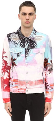 Printed Cotton Denim Jacket