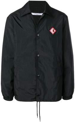 Givenchy logo patch coat