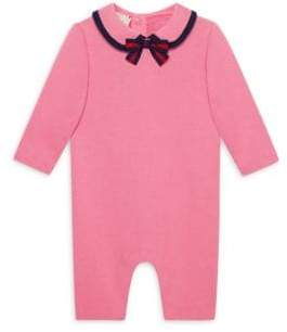 Gucci Baby Girl's Cotton Sleepsuit