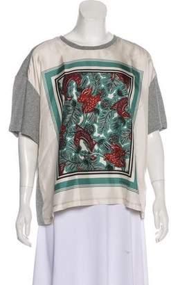 Burberry Silk-Blend Printed Top