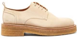 Ami Raised Sole Suede Derby Shoes - Mens - Beige
