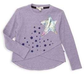 Appaman Little Girl's & Girl's Penelope High-Low Star Patch Tee