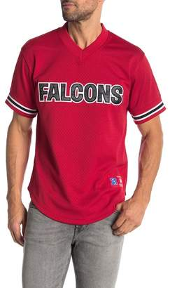 Mitchell & Ness NFL Atlanta Falcons Mesh V-Neck Tee