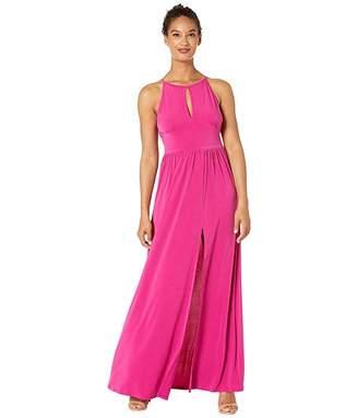 MICHAEL Michael Kors Solid Halter Maxi Dress