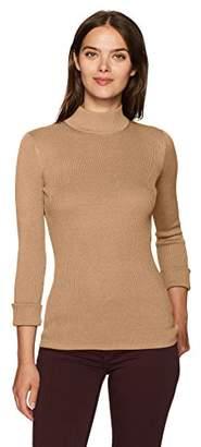 Pendleton Women's Washable Silk/Cotton Rib Mockneck Pullover Sweater