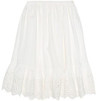 Bonpoint Farah pique cotton skirt