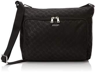 JOOP! Nylon Cornflower S Bela Shoulderbag Mhz, Women's Shoulder Bag, Schwarz (), 14x23x27 cm (B x H T)