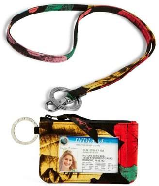 Vera Bradley Havana Rose Zip-Id/lanyard
