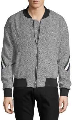 Eleven Paris Caraibes Herringbone Bomber Jacket