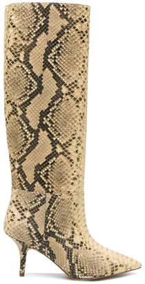 Yeezy snake effect mid-calf boots