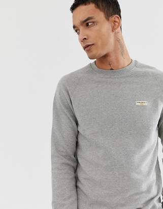 Nudie Jeans Samuel logo sweatshirt in grey