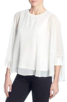 Catherine Malandrino Textured Quarter-Sleeve Top