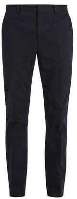 Fendi Slim-leg cotton-blend twill chino trousers