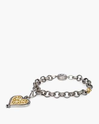 Chico's Chicos Mixed-Metal Heart Charm Magnetic Bracelet