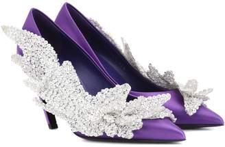 Balenciaga Slash Heel satin pumps