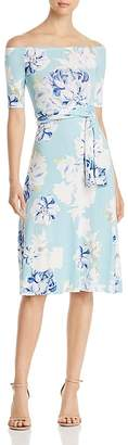 Yumi Kim Skip A Beat Floral-Print Off-the-Shoulder Dress