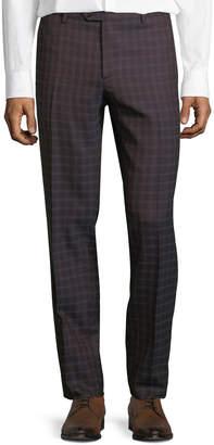 Men's Pindot Check Wool Dress Pants