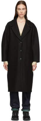 Harris Wharf London Black Pressed Wool Oversized Coat