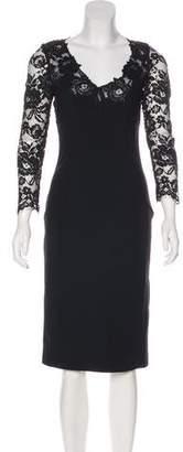 Ermanno Scervino Lace-Paneled Midi Dress