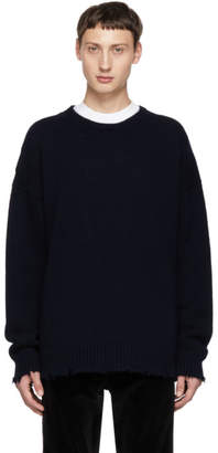 DSQUARED2 Navy Fin 3 Crewneck Sweater