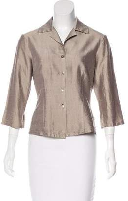 Trina Turk Metallic Button-Up Top