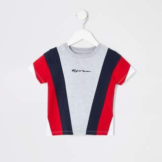 River Island Mens Mini boys Grey block T-shirt